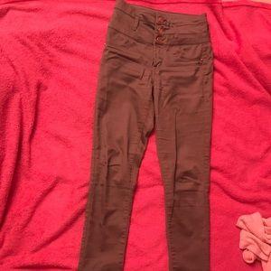 Olive high waist refuge skinny jeans size 2